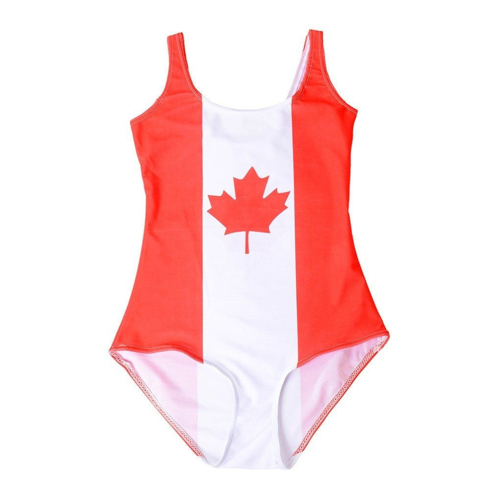 Canadian Flag Bodysuit - Rave Rebel