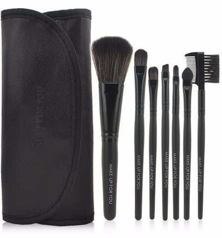 Black 7pcs Makeup Brush Kit