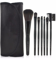 Black 7pcs Makeup Brush Kit - Rave Rebel