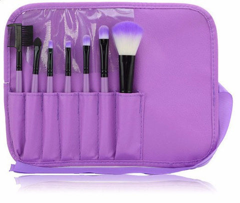 Purple 7pcs Makeup Brush Kit