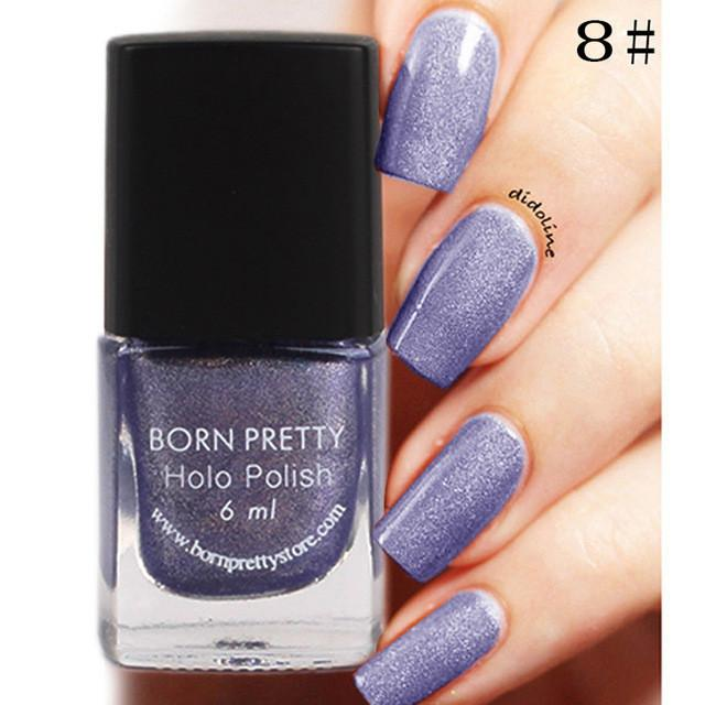 Purple Born Pritty Holographic Glitter Nail Polish - Rave Rebel