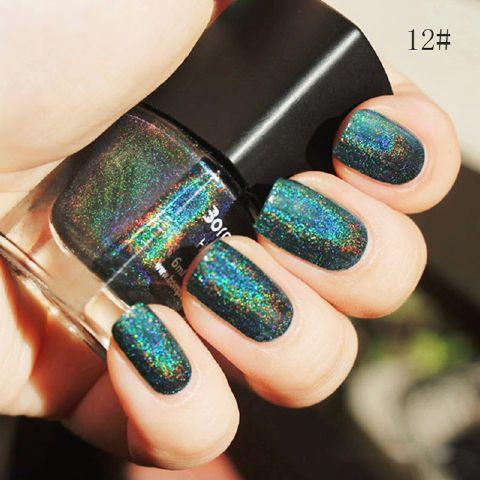 Green Born Pritty Holographic Glitter Nail Polish - Rave Rebel