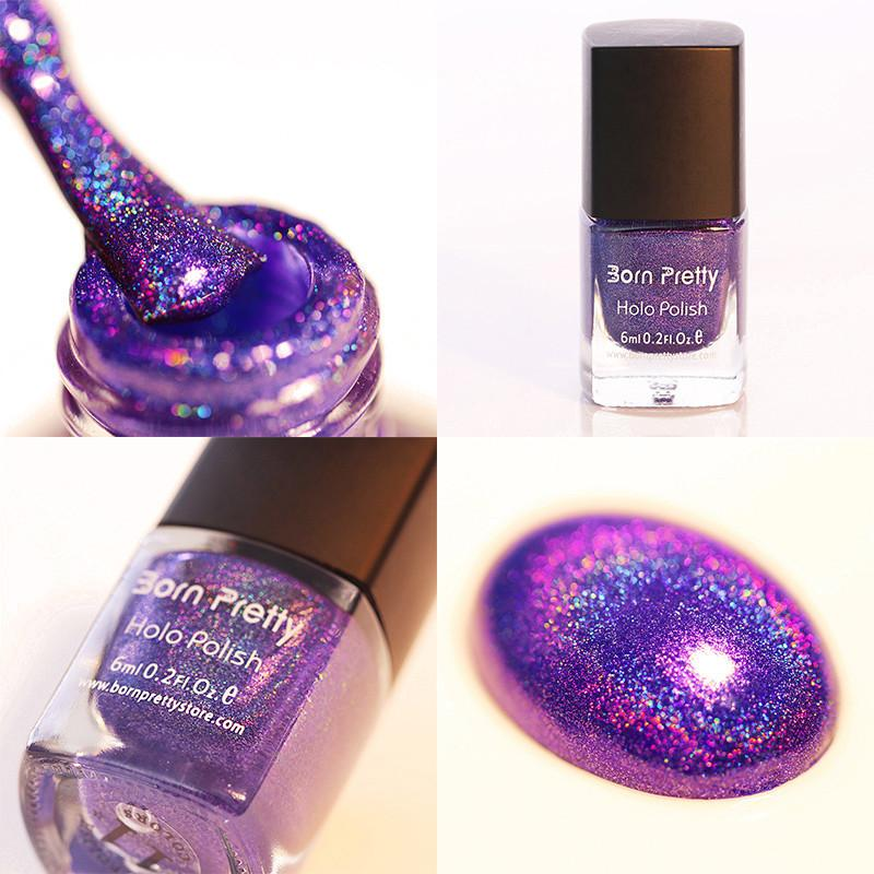 Born Pretty Holographic Glitter Nail Polish - Rave Rebel
