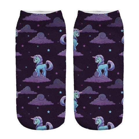 Unicorn Galaxy Low Cut Ankle Socks - Rave Rebel