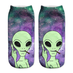 Alien Low Cut Ankle Socks - Rave Rebel