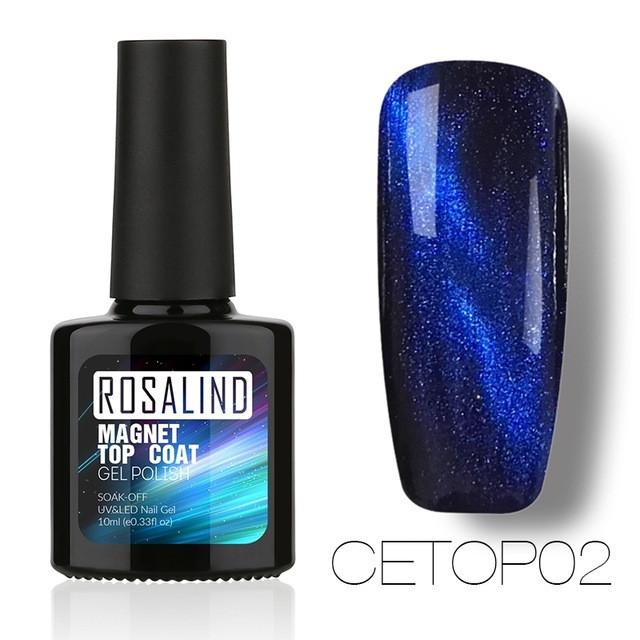 ROSALIND 10ML Cat Eyes Top Coat Nail Polish - Blue - Rave Rebel