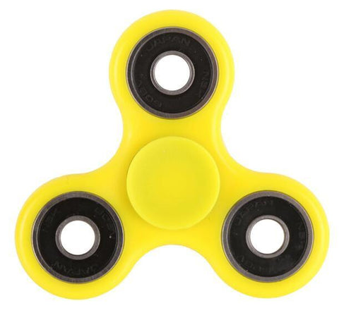 Yellow/Black Multi Color Triangle Gyro Fidget Spinner