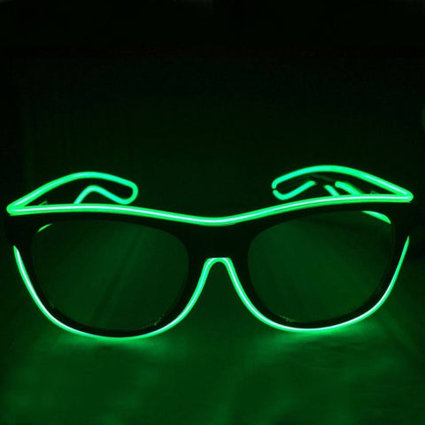 NEON Green LED Light Up Glasses - Rave Rebel