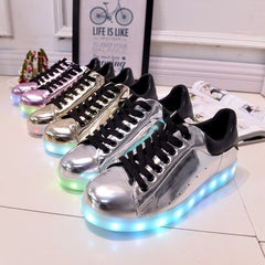 Shiny Pink LED Light Up Shoe