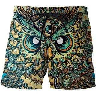 Vintage Owl Board Shorts
