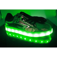 Shiny SIlver LED Light Up Shoe