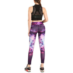 Purple Galaxy Leggings - Rave Rebel