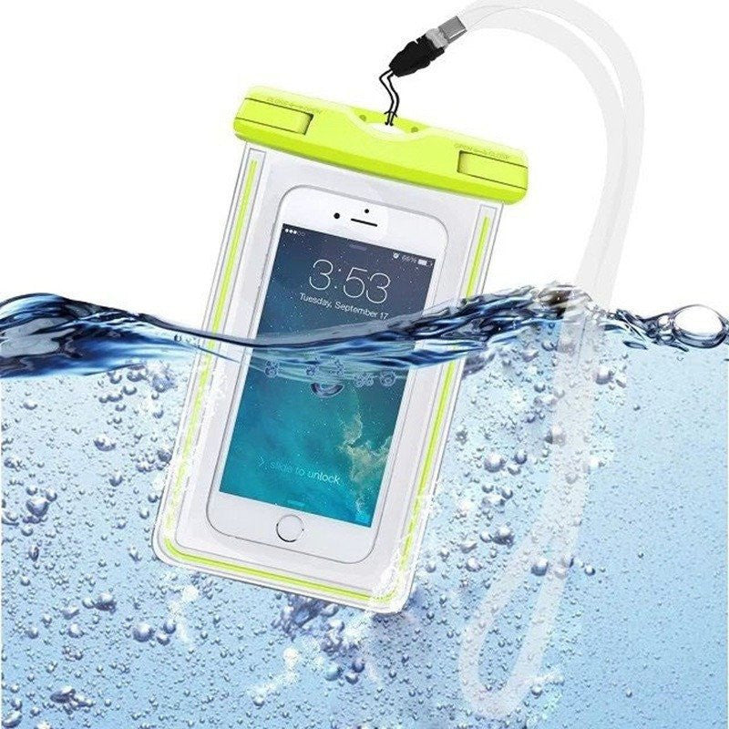 Waterproof Bag With Luminous Underwater Pouch For iPhone, Samsung Galaxy + Edge Note Phones - Rave Rebel