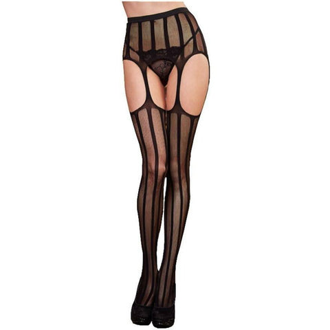 Net Garter Belt and Stocking - Rave Rebel