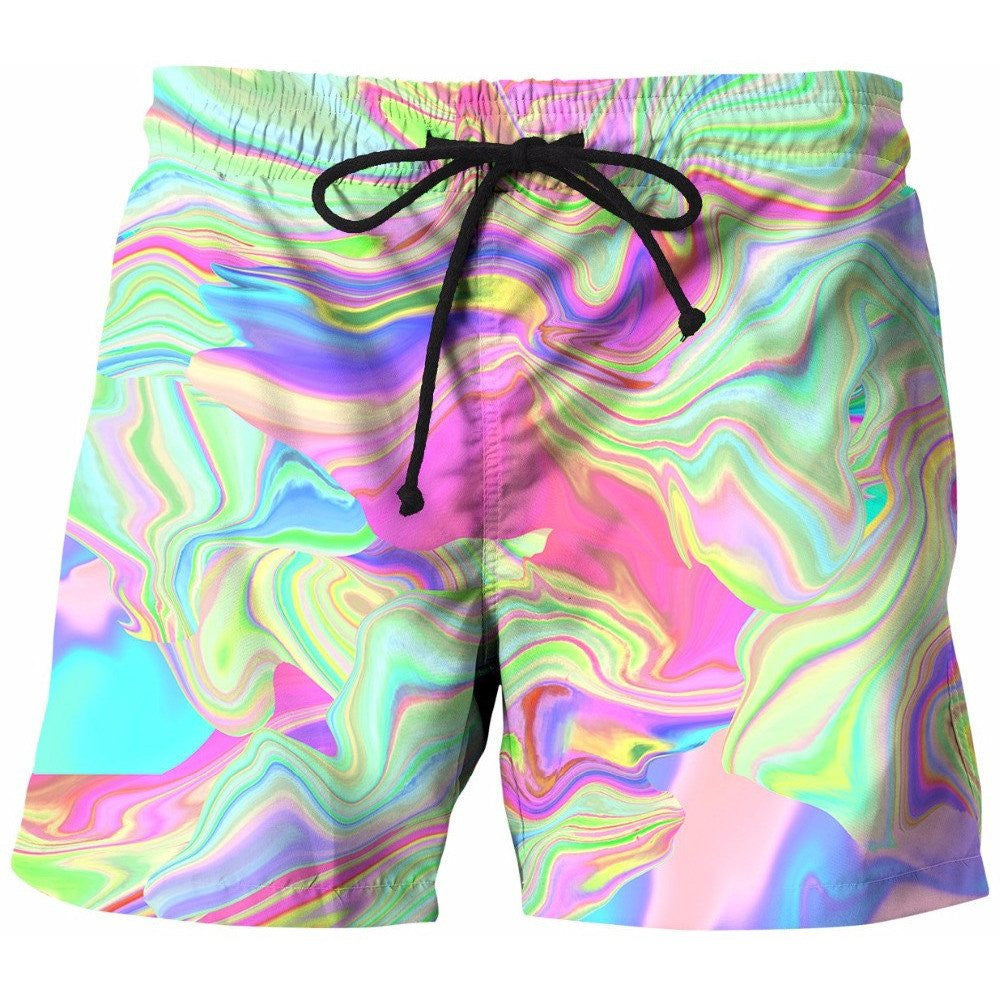 Tie Dye Board Shorts - Rave Rebel
