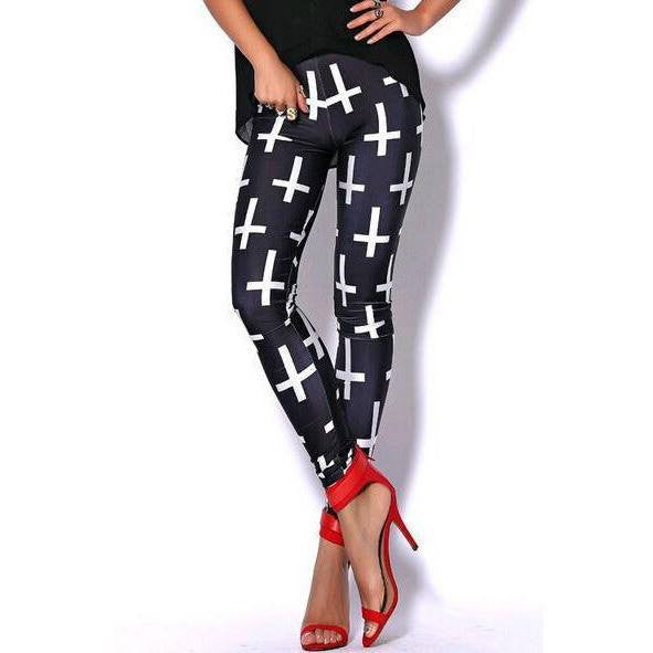 Cross Leggings - Rave Rebel