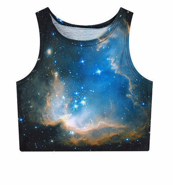 Galaxy Crop Top - Rave Rebel