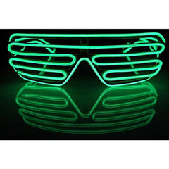NEON Green Shutter LED Light Up Glasses - Rave Rebel