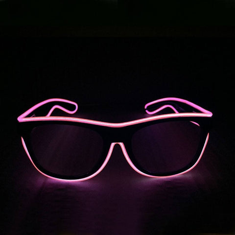 NEON Pink LED Light Up Glasses - Rave Rebel