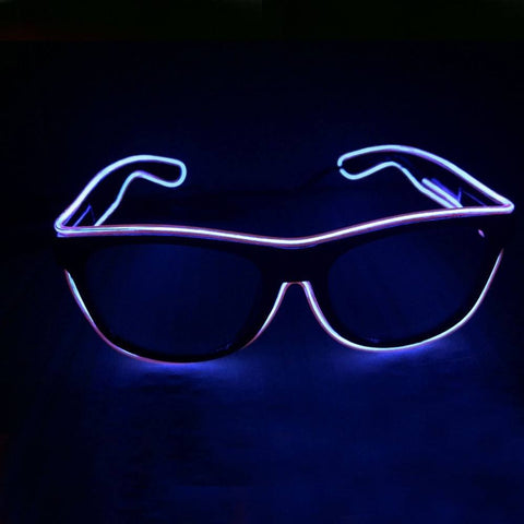 NEON Purple LED Light Up Glasses - Rave Rebel