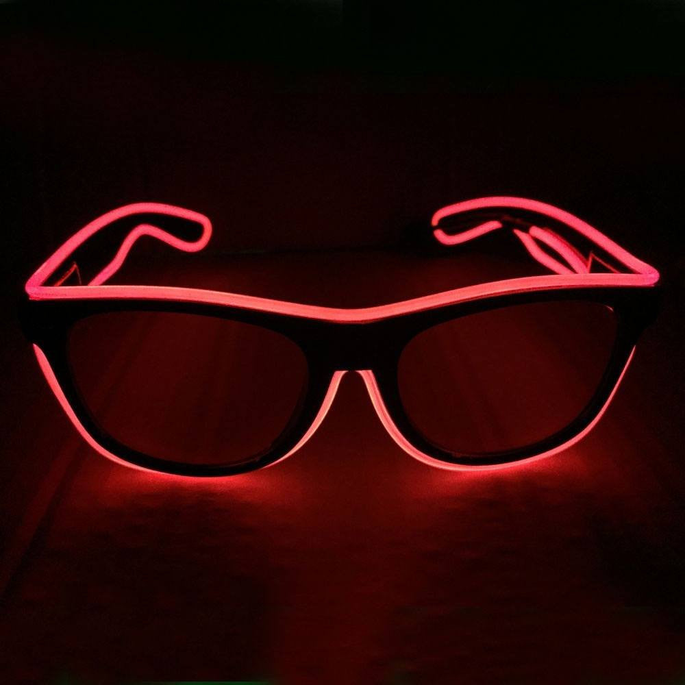 NEON Red LED Light Up Glasses - Rave Rebel