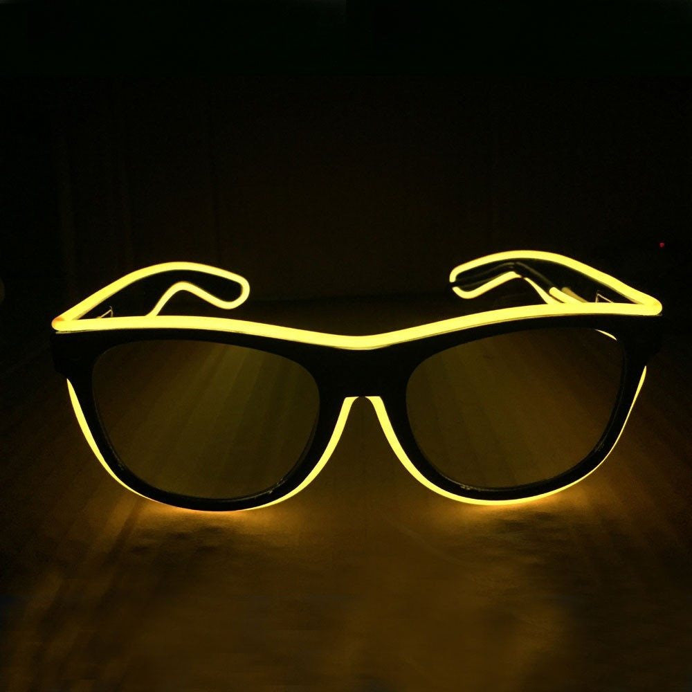 NEON Yellow LED Light Up Glasses - Rave Rebel