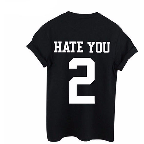 HATE YOU 2 Tee - Rave Rebel