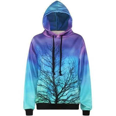 Galaxy in the Forest Pullover - Rave Rebel