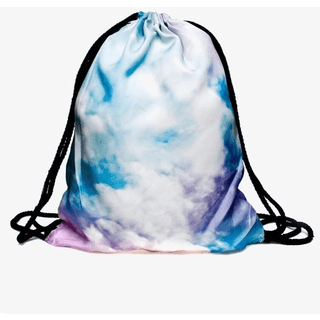 Rainbow Cloud Drawstring Bag - Rave Rebel