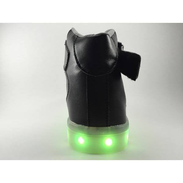 Black High Top LED Light Up Shoe - Rave Rebel