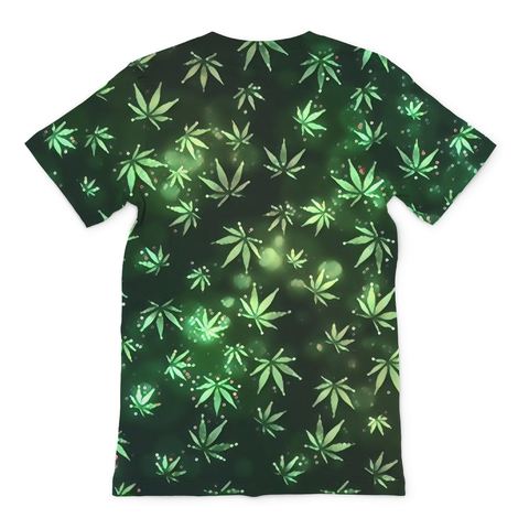 Weed Leaf Galaxy Men's Tee - Rave Rebel