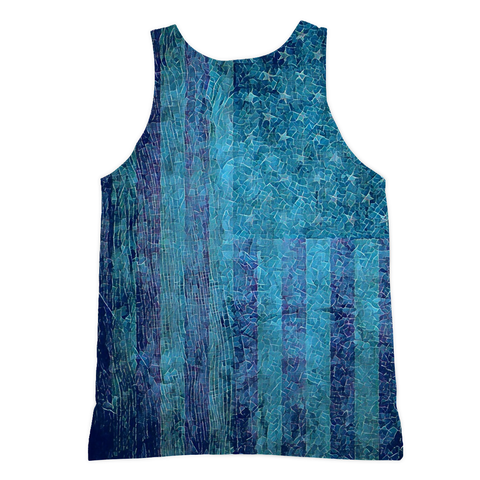 Stars and Stripes Long Tank - Rave Rebel