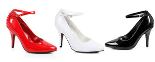 "4"" Heel ""B"" Width Pump With Ankle Strap - Rave Rebel"