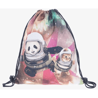 Space Panda Drawstring Bag - Rave Rebel