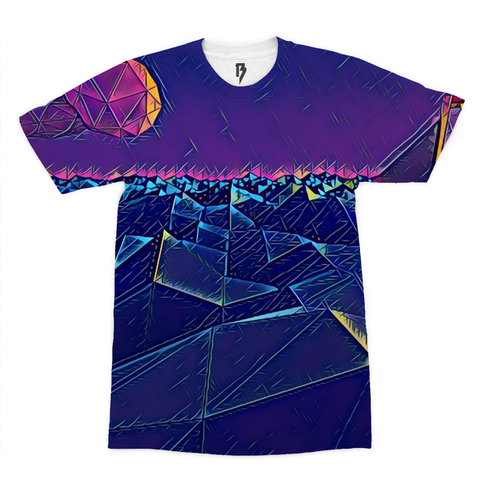 Triangular Ocean Men's Tee - Rave Rebel