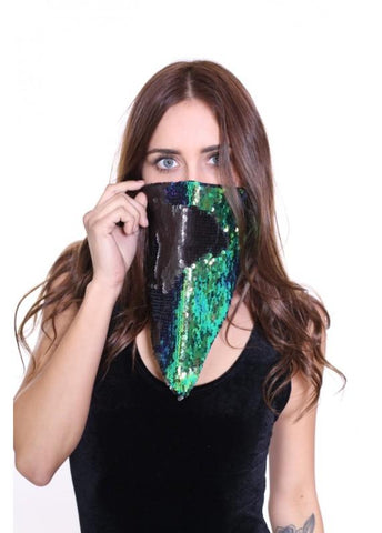 Reversible Iridescent Infiniti Bandana Mask - Mermaid