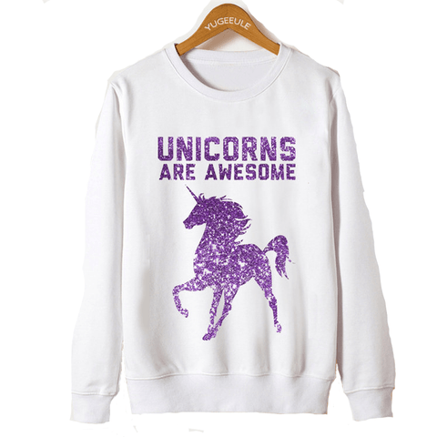 Unicorns Are Awesome Pullover - Rave Rebel
