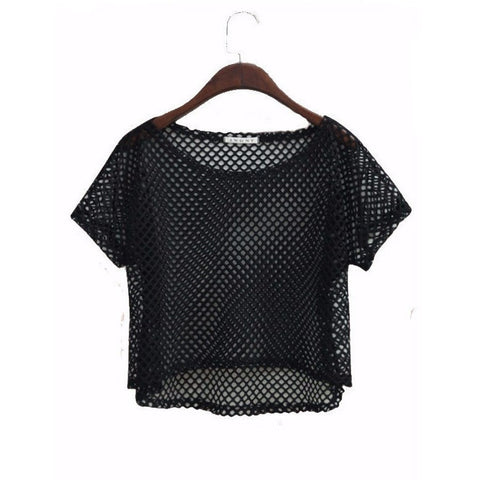 Sexy Mesh Crop Top - Rave Rebel