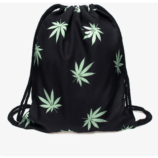 Weed Leaf Drawstring Bag - Rave Rebel