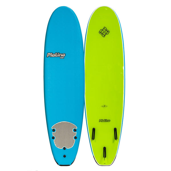 Platino 7ft Soft Top Softboard Azure Blue Lime