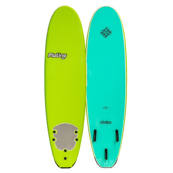 Platino 7ft 6inch Soft Top Softboard Apple Green Turquoise