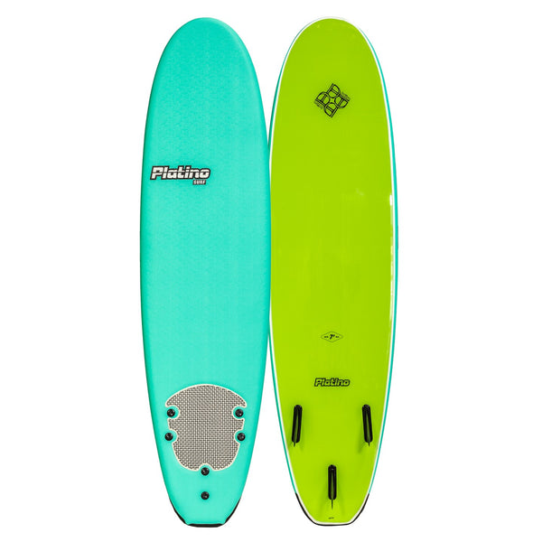 Platino 7ft Soft Top Softboard Turquoise Lime