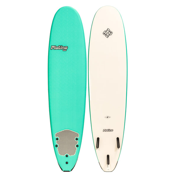 Platino 8ft Soft Top Softboard Turquoise White