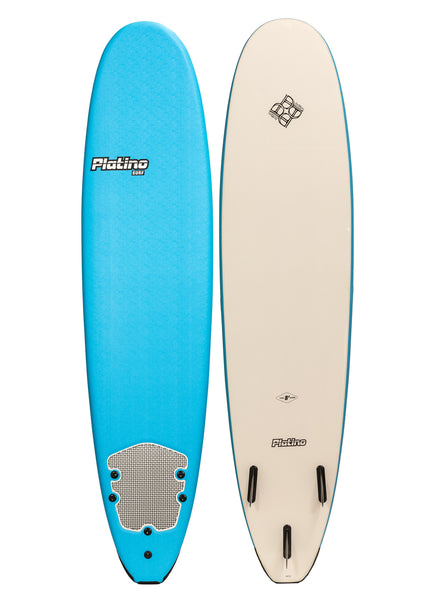 Platino 7ft 6inch Soft Top Softboard Azure Blue White
