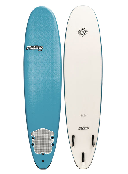 Platino 8ft Soft Top Softboard Steel Blue White