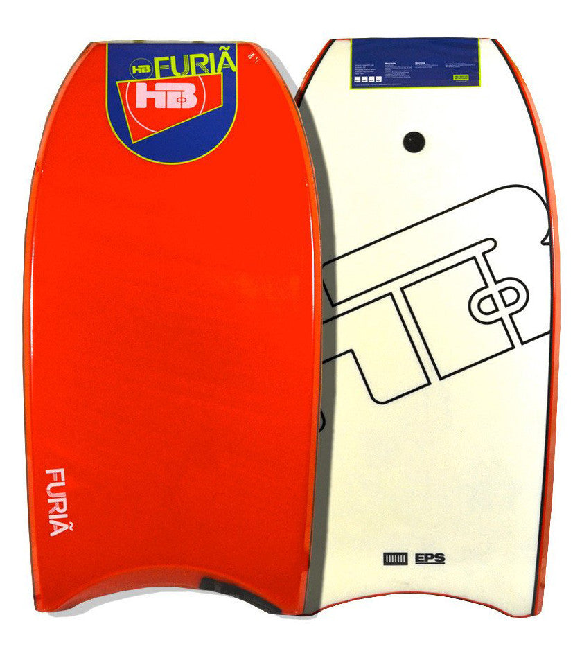 "Hot Buttered 42.5"" EPS Bodyboard Red White"