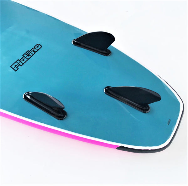Platino 6ft 6 inch Soft Top Surfboard Pink Steel
