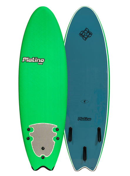 Platino 6ft Fish Softboard Kelly Green/Steel