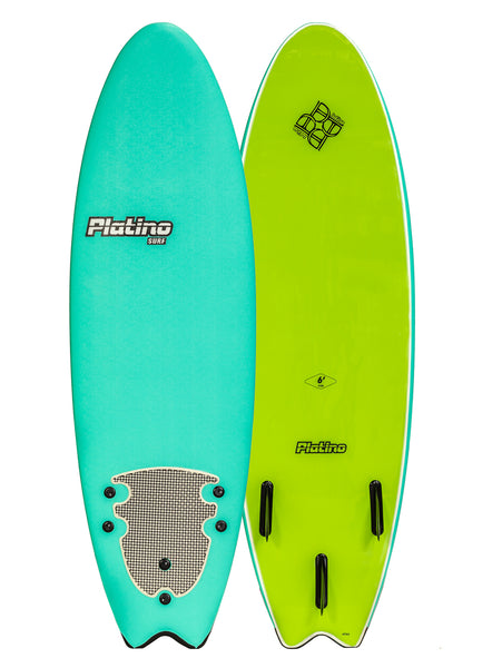 Platino 6ft  Fish Softboard Turquoise Lime