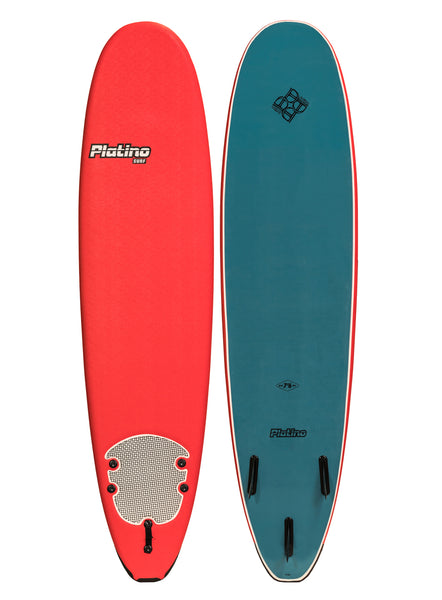 Platino 7ft 6inch Soft Top Softboard Red Steel